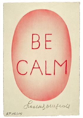 Be Calm-Artwork by Louise Bourgeois