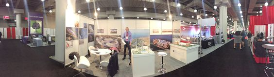 Panoramic shot of our stand at #ICSC New York Deal Making Forum #tradeshow #conference #exhibition #retail #retailers #architectural #architects