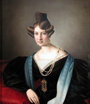 Giuseppe Tominz, Portrait of Clarissa Fesch Wessily, c.1834: