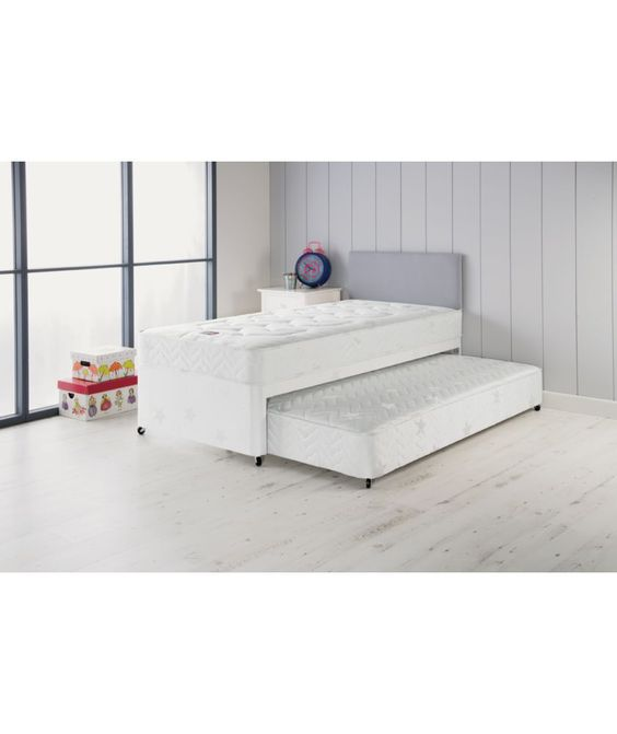 Buy airsprung elliott deluxe single divan bed with trundle for Divan trundle bed
