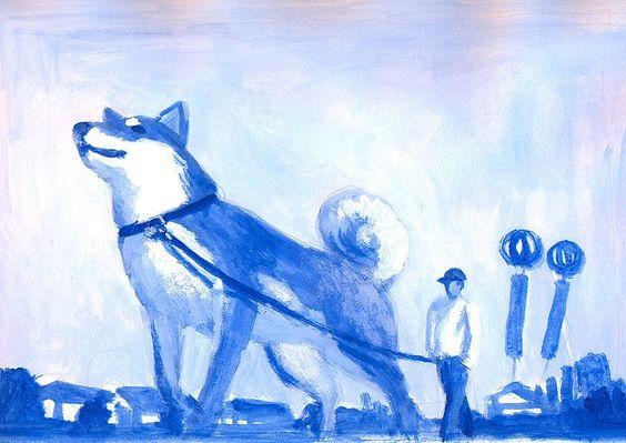 #shiba #shibainu #dog #illustrator #illustration #happy #people #friend #acrylic #love #tatsurokiuchi #japan #tokyo