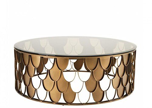 Casa Padrino Art Deco Luxus Designer Couchtisch Antik Kupfer ...