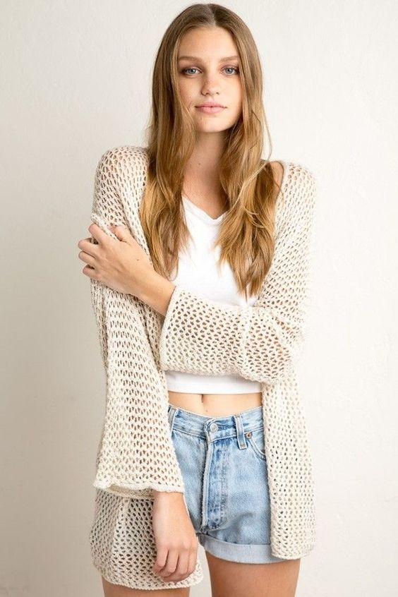 7. #Lucie Cardigan - 22 #Brandy Melville #cherche #Inspiration de la #mode... → #Fashion