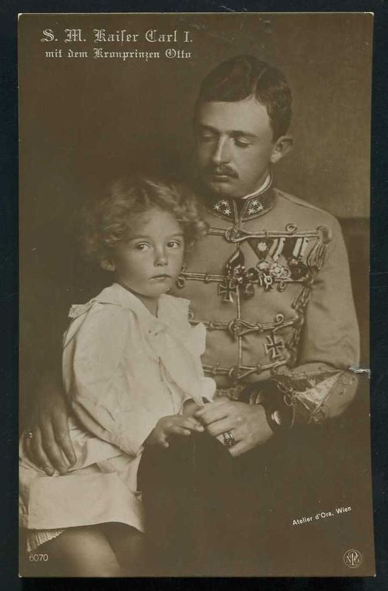Kaiser Karl I and son Otto