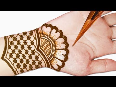 arabic mehndi design easy and beautiful for front hand full hand