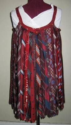 Image detail for -Women's fashions made out of recycled neckties