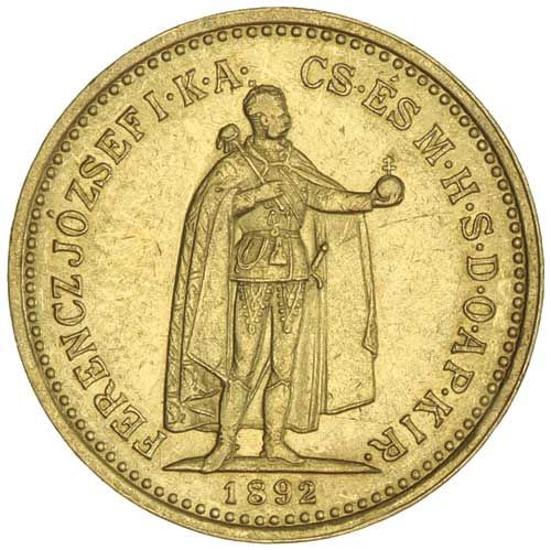 Hungary Franz Joseph I Ten Korona 1892kb Km 485 Fine Mad On Collections Browse And Find Over 10 000 Categories Of Coins Gold Bullion Coins Old Coins