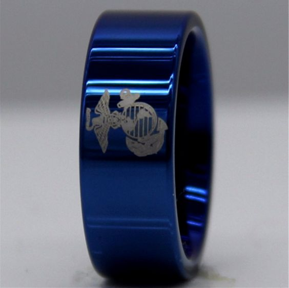 12mm Stone Finish Tungsten Ring Customize your band with your