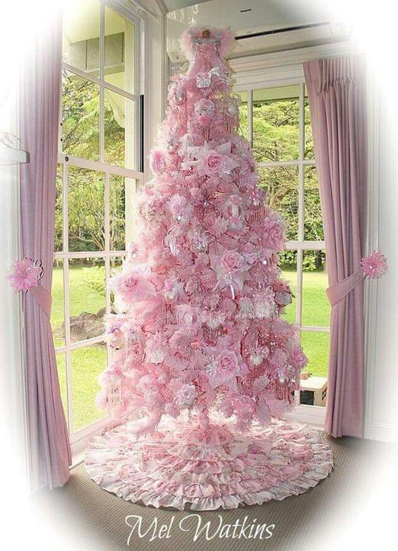 Arbol navidad rosa rboles de navidad pinterest navidad - Arboles de navidad rosa ...