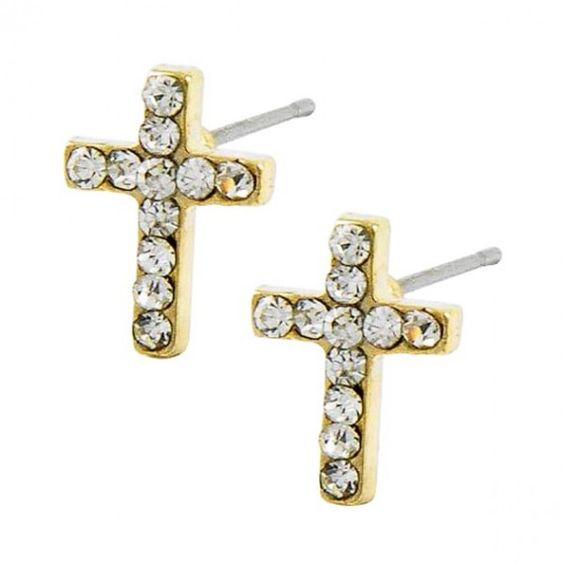 Cross Studs. #earrings #style #jewelry 9thelm.com
