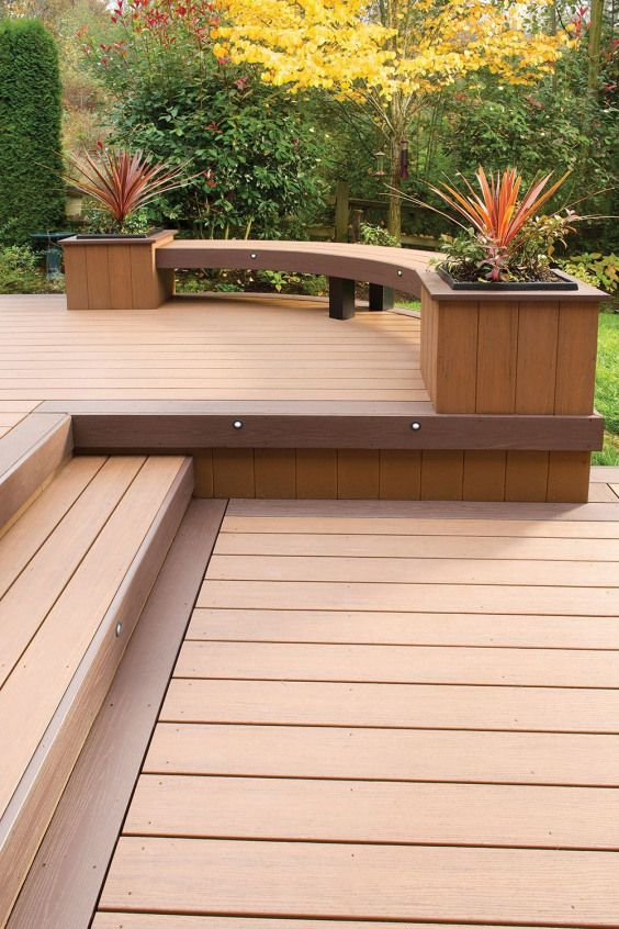 Outdoor Deck Ideas Decks Could Be Connected To A Residence Or Separated Wood Decking Products Include Softwoods Exoti Timber Deck Deck Design Decks Backyard