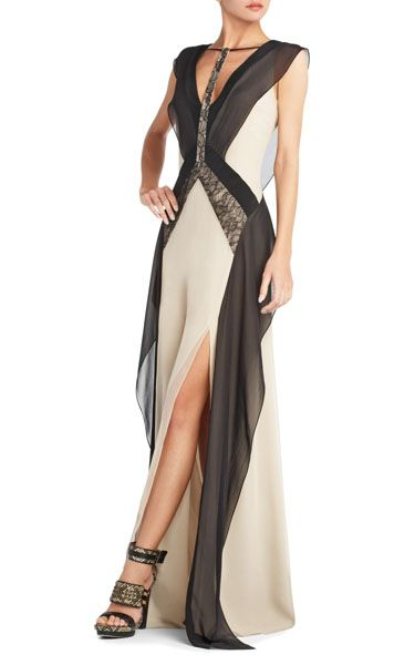 cheap Bcbg outlet runway juno evening gown v-neck bd0101164 DS143 ...