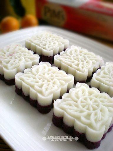 Purple sweet potato yam cake