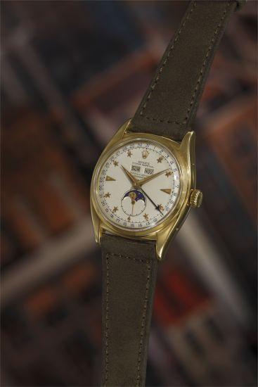 "Rare Rolex Ref. 6062 ""Stelline"" Triple Calendar Moon Phase, 1953"