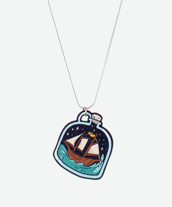 Bottleship necklace - jess fink