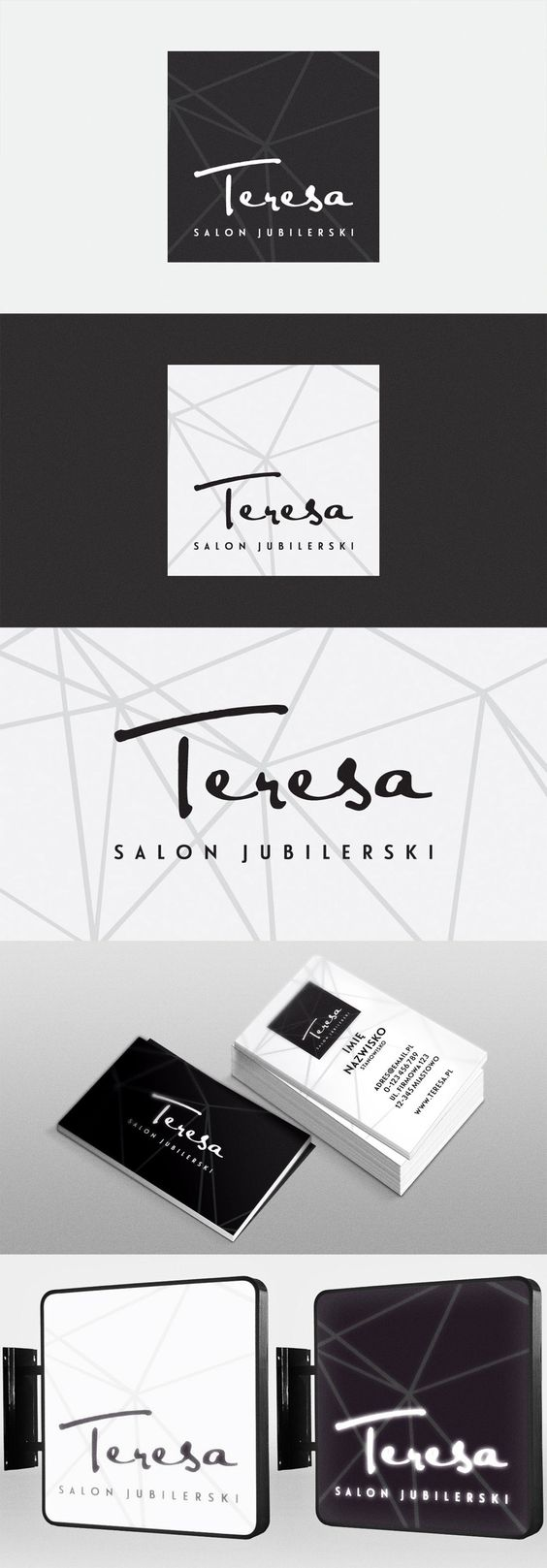 teresa jewelry logo business and more logos salons behance jewelry ...