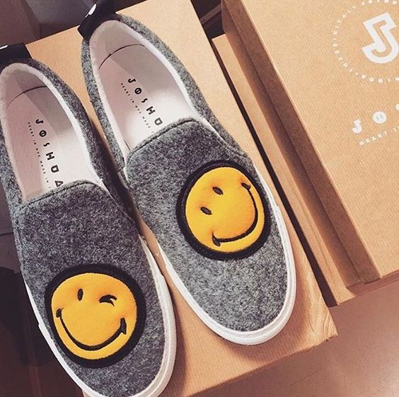 Joshua Sanders slip on happy