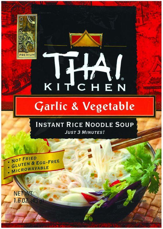 Thai Kitchen Instant Rice Noodle Soup Garlic And Vegetable Mild 1 6 Oz Case Of 6