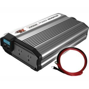 Power Bright 12 Volt Dc To Ac 2300 Watt Power Inverter Pw2300 12 The Home Depot In 2020 Power Inverters Power Electronic Recycling
