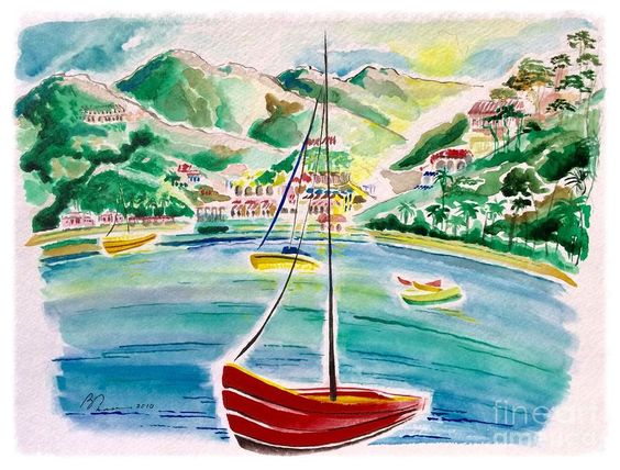 Avalon Bay Painting