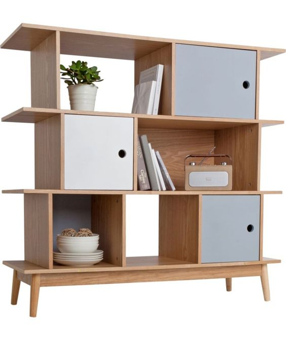 Foley Offset Bookcase Multicoloured At Argos Co Uk Your