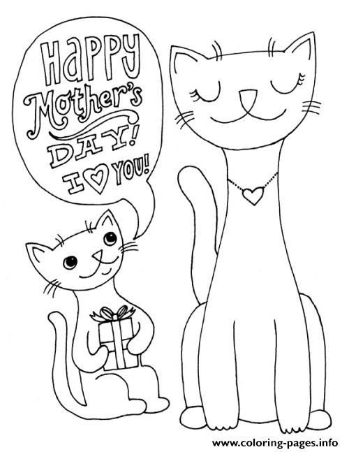 Mothers Day Coloring Pages Printable Happy Mothers Day Cats Animal S2691 Coloring Pages Pr Mothers Day Coloring Pages Mermaid Coloring Book Mother S Day Colors