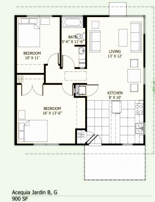 Popsugar Small House Floor Plans 20x30 House Plans 800 Sq Ft House