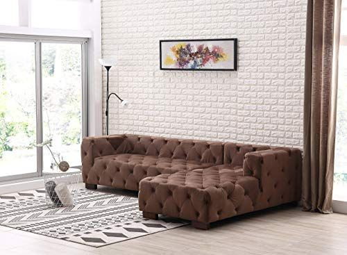 Amazing Offer On Container Furniture Direct S0136 R 2pc Michael Sectional Sofa Brown Online Furniture Sofa Set Plaid Living Room Sectional Sofa