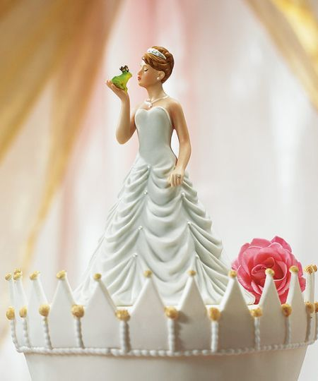 Princess Bride Kissing Frog Wedding Cake Topper