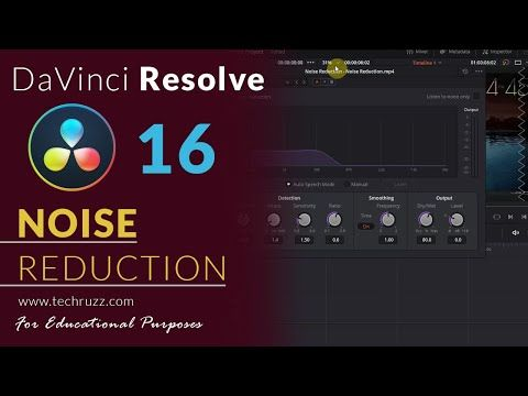 How To Remove Audio Video Background Noise In Davinci Resolve 16 Noise Reduction 2020 Youtube Youtube Video Background Background Noise