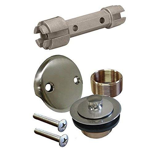 Brushed Nickel Bathtub Tub Drain Assembly Bath Area Shower Overflow And Removal Tool Review Removal Tool