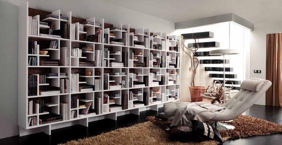Estantería moderna decoración Pinterest - bucherregal systeme presotto highlight wohnraum