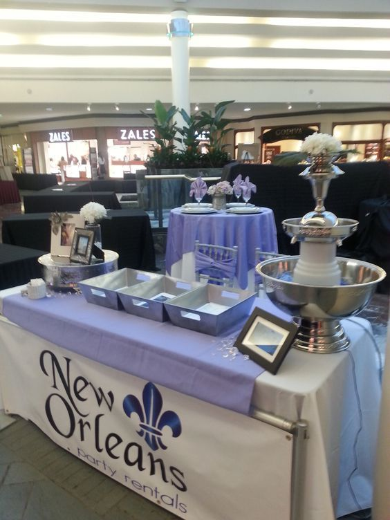 New Orleans Party Rentals Booth At Recent Bridal Expo Corporate Events Event Rental Backyard Birthday Parties