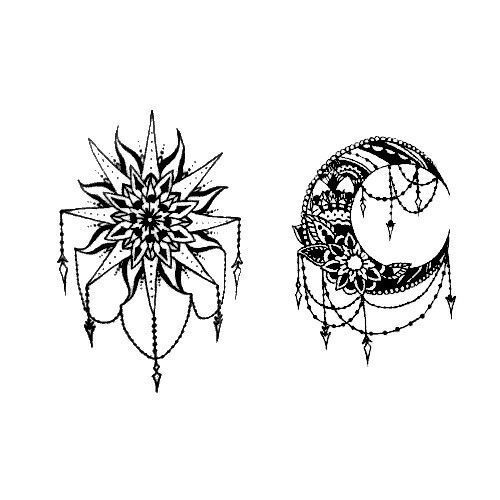 Sun And Moon Designs Tattoo Brainstorming