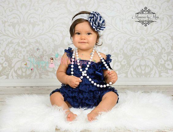 baby girls dress- Navy Blue Vintage Lace Dress- ruffle dress- baby ...