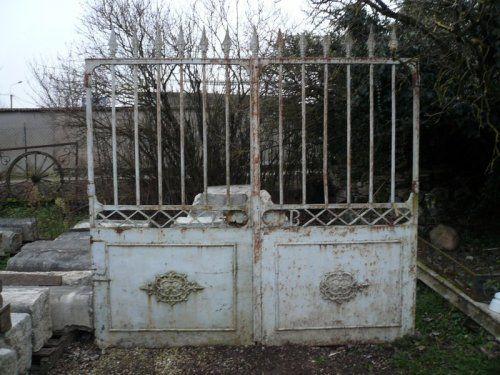 Portail ancien en fer forg antiquit s de jardin for Portail de jardin en fer