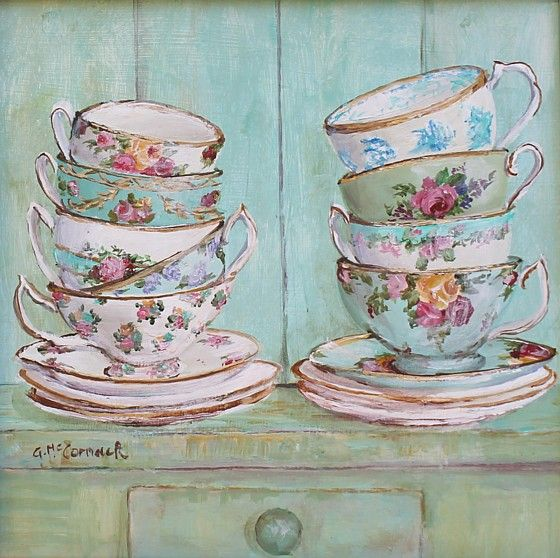 Stacked Tea Cups: