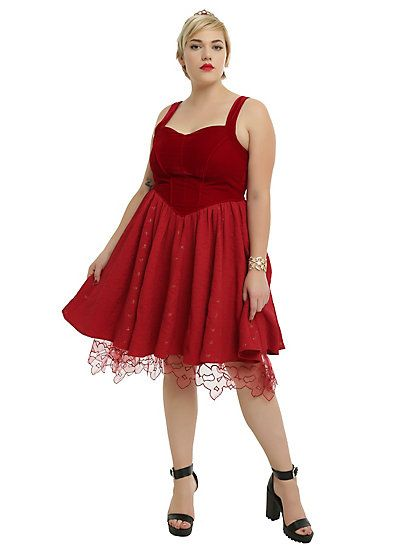 Disney Alice Through The Looking Glass Red Queen Heart Dress Plus ...