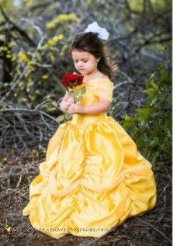 Stunning DIY Toddler Disney Halloween Costume: The Yellow Belle
