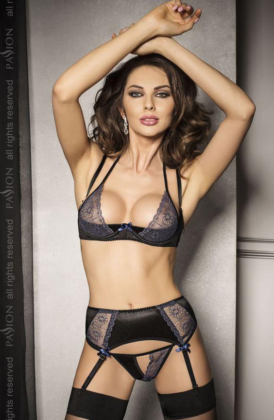 Sexy black lingerie set