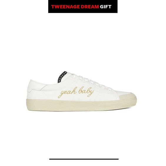 Saint Laurent Signature Court Classic Surf SL/37 'Yeah Baby' Sneaker in Off White