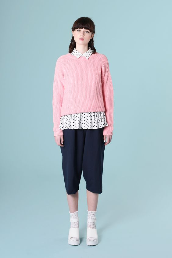 Beehive Knit Jumper Pink http://www.thewhitepepper.com/collections/knitwear/products/beehive-knit-jumper-pink