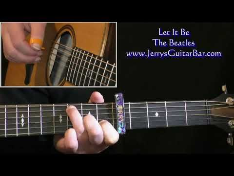 Beatles Let It Be Intro Guitar Lesson Youtube Guitar Lessons Guitar The Beatles