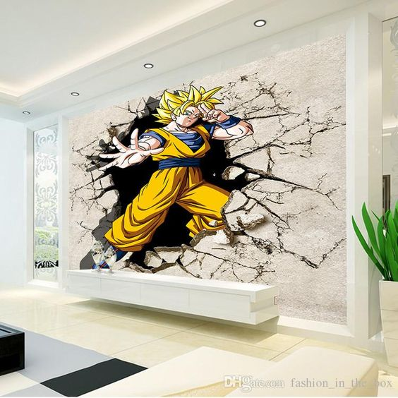 Dragon ball photo wallpaper and dragon on pinterest for Mural 3d wallpaper