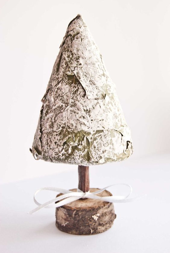 Iced Christmas tree  Christmas topiary  Christmas by florasense, $13.00