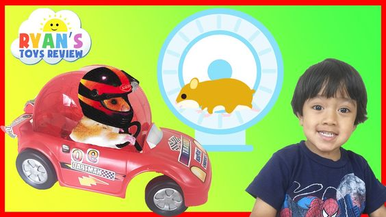 awesome Hamster Pet first Toy Car Wheel and Exercise Ball kids video Ryan ToysReview