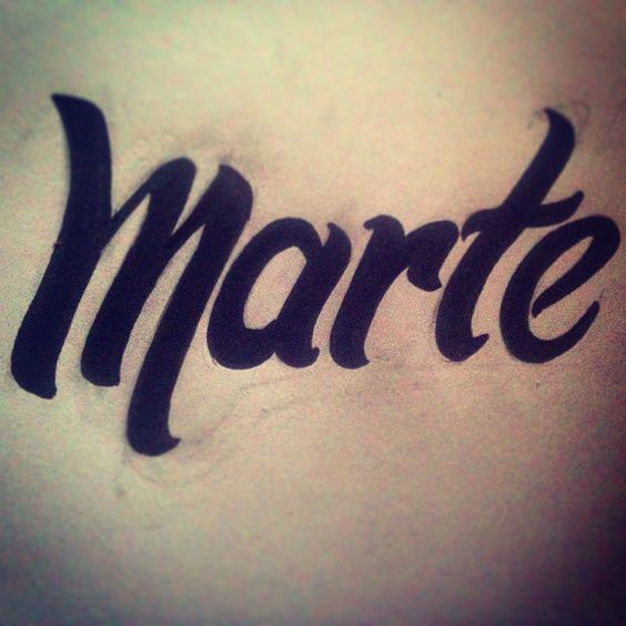 Tipografía hecha a mano #marte #tipografía