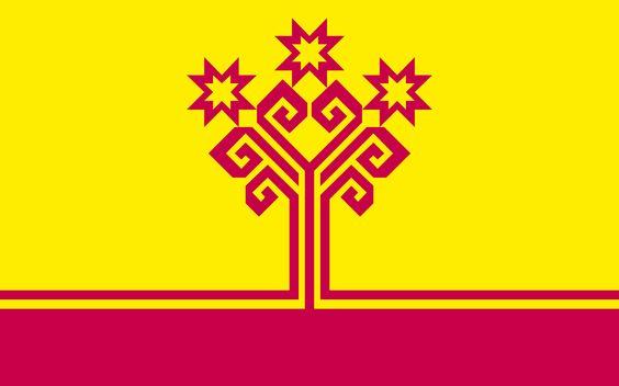 El Árbol de la vida, como se ve como en la bandera de Chuvashia