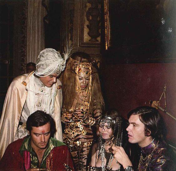 """Brigitte Bardot, Jean-Pierre Bonnotte, Patrick Gilles, Florence Grinda and Patrice Calmette at Le Baron De Redé's """"Bal Oriental"""""""