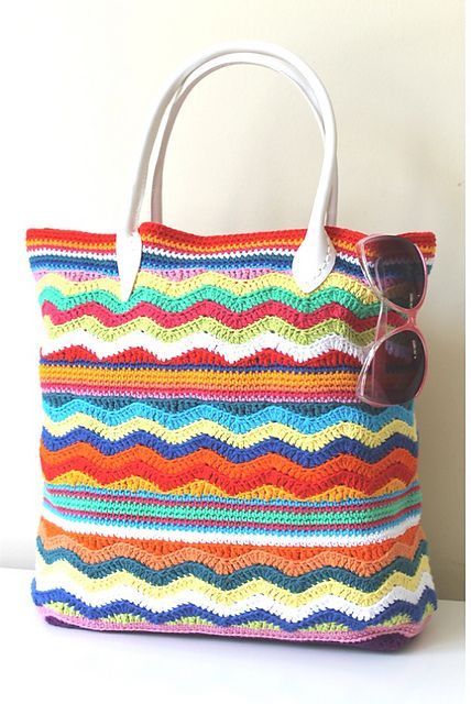chevron #crochet beach bag free pattern: